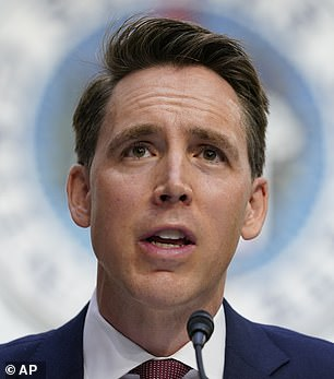 Missouri Sen Josh Hawley (pictured) on Wednesday voiced his support for a Trump-backed plan to object to certifying the Electoral College votes on January 6