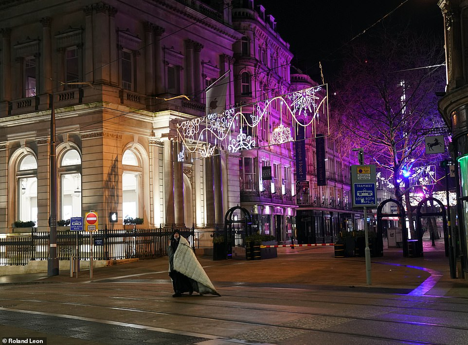 BIRMINGHAM: The streets of Birmingham were deserted tonight as New Year's Eve celebrations were canceled due to Covid
