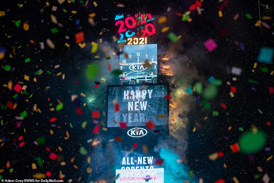 Times Square is usually at the center of the world's New Year's Eve celebrations, with tens of thousands of people packing in to the commercial hub every December 31st to watch the ball drop at midnight
