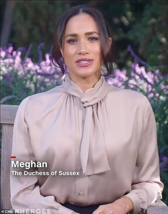 Meghan Markle appears on CNN to pay tribute to 'quiet heroes' of the coronavirus pandemic and the 'power of the human spirit' in first appearance since revealing miscarriage in New York Times