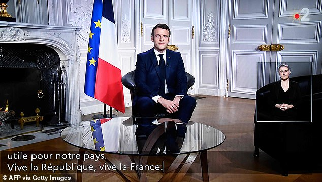 In his New Year video address from the Elysee Palace, Paris, Mr Macron questioned the strength of Britain's sovereignty following its departure from the European Union
