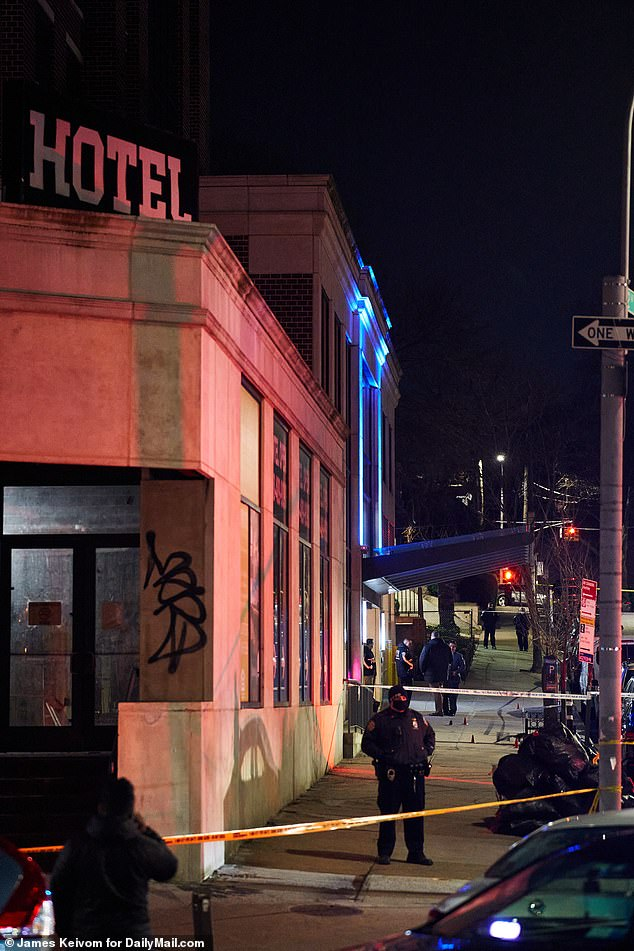 The triple shooting took place outside the Umbrella Hotel on Queens Boulevard in Kew Gardens just after 1 a.m. Friday following a dispute with a group of people that left a 20-year-old man dead