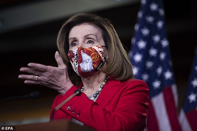 San Francisco officers arrived on the scene around 3 a.m. and a police report was taken, TMZ said. Pelosi is seen above in Washington, DC, on Wednesday