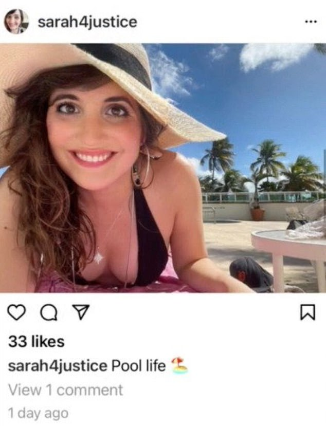 An image purportedly posted by Chambers to Instagram on Wednesday showed the union leader soaking up the sun in Puerto Rico