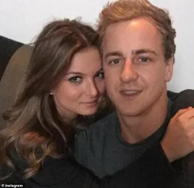 Love Island star Zara Holland and Elliott Love (pictured together) were reportedly held in custody in St Lucia after they left compulsory quarantine in their hotel in Barbados and were bound for the airport in a taxi, presumably to try and get on a flight somewhere