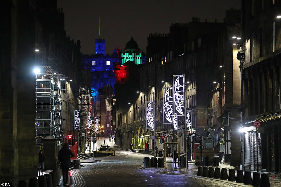 EDINBURGH: The Royal Mile in Edinburgh this evening resembled a ghost town as weary Scots followed Government advice and stayed at home