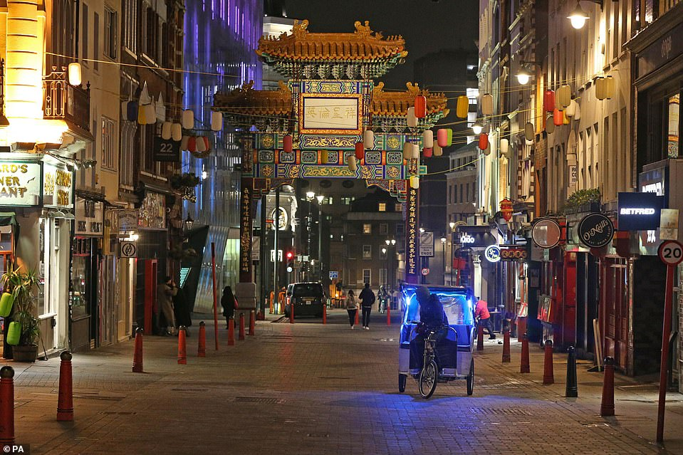 LONDON: London's China Town was nearly empty tonight as New Year's Eve celebrations were cancelled amid the Covid pandemic