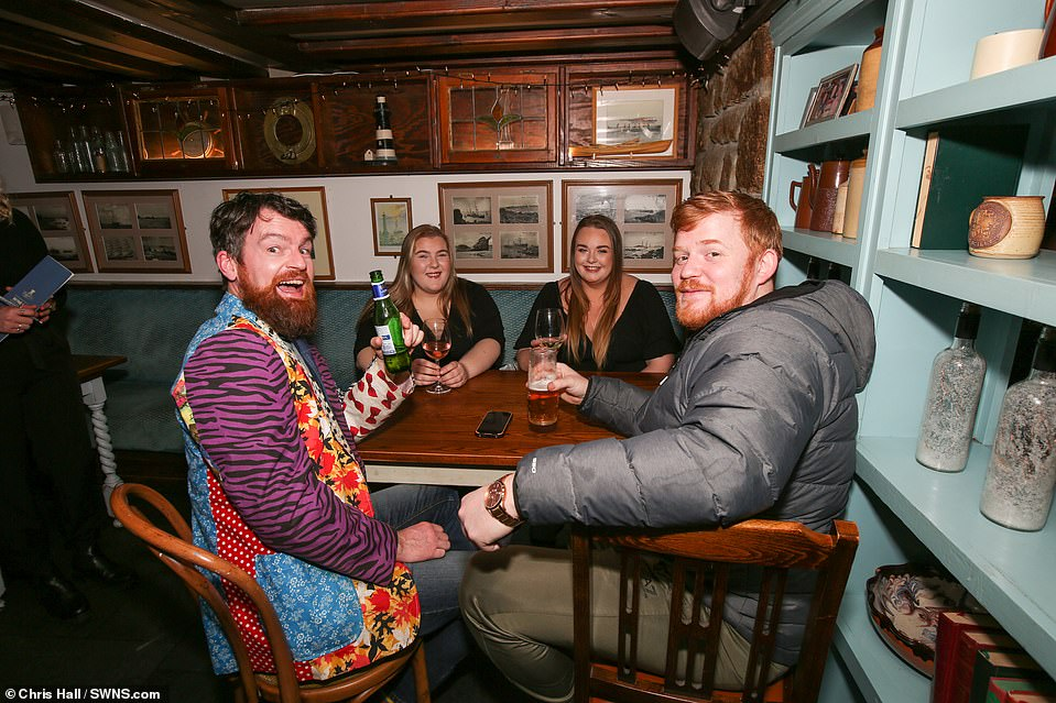 ISLES OF SCILLY:There are normally around a dozen pubs on the archipelago but a number have closed this year, leaving punters with few options for welcoming in 2021 (some revellers pictured), but more than those on the mainland
