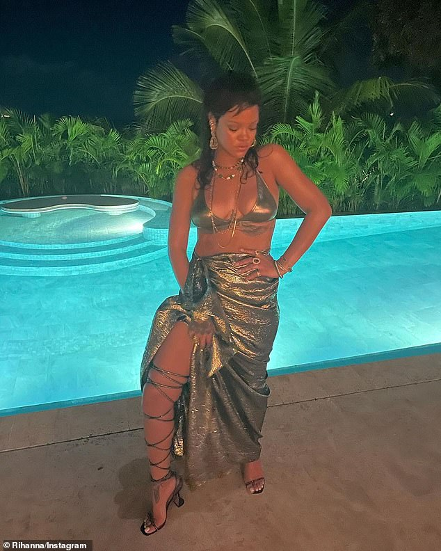 Under pressure:Shortly after sharing the snap to Instagram, fans of the Barbados-born beauty took to the comment section to 'pressure' her into putting out new music