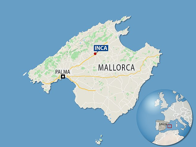 Hilaria's parents and brother Jeremy have lived in the town of Inca in Majorca for years and have established a life there