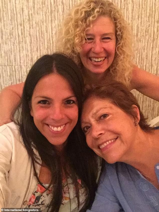 Kathryn Hayward (top) is pictured with co-facilitator Maria Laura Chacon and friend Cati Genestra (lower right) who has developed a recipe for whole grain bread