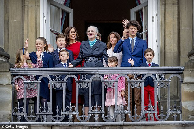 The relationship is believed to have gone downhill after Princess Marie, who is married to Prince Joachim, aired her complaints about having to move her family to Paris (pictured Princess Mary, and Princess Marie with Queen Margrethe of Denmark and children)