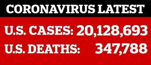 This week, the United States surpassed 20 million coronavirus cases