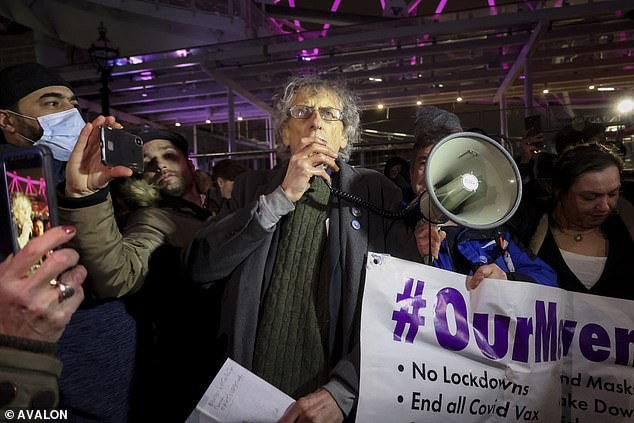 Piers Corbyn was fined by police after leading a New Year's Eve anti-lockdown protest in Central London