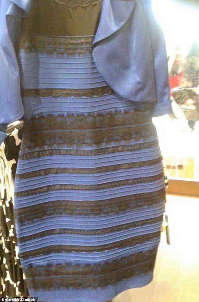 In 2015, this image of a body-con dress with lace detailing sparked debate, with some adamant that it was black and blue and others arguing it was white and gold