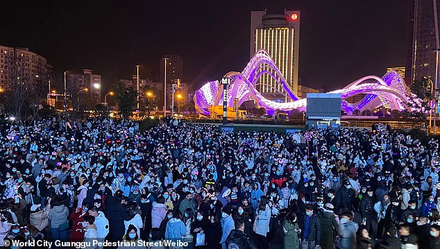 Huge crowds were seen on the streets of Wuhan on New Year's Eve. Once the virus epicentre, lockdown rules have since been significantly relaxed in the city