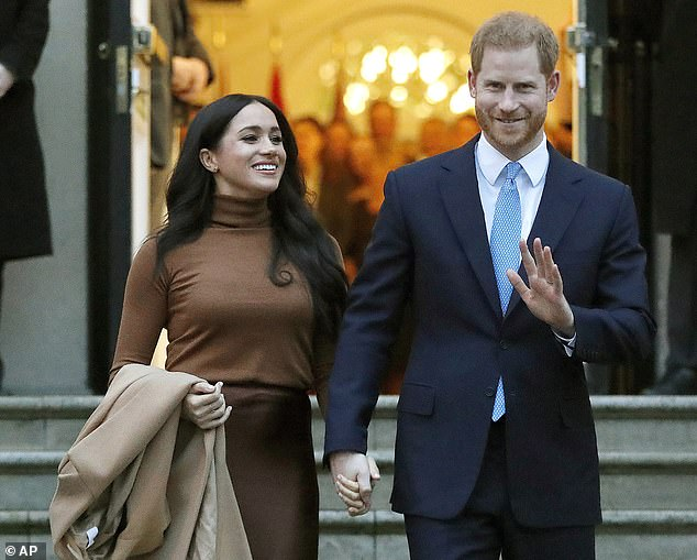Prince Harry and Meghan Markle (pictured) were criticised for using private jets in 2019 - including four trips in just 11 days in August - despite their eco credentials