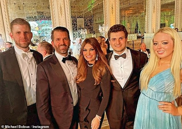 The Trumps: The president's children gathered at his Mar-a-Lago estate for his annual New Year's Eve gala on Thursday