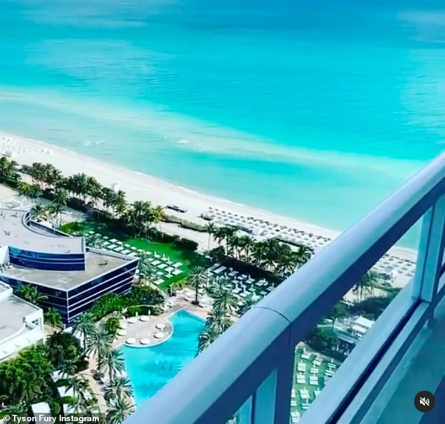 Fans believe the champion boxer was staying at the £230 a nightFontainebleau Miami Beach Hotel