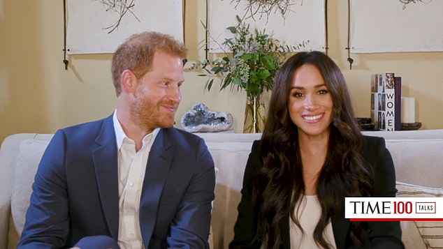 Meghan, who is currently living in California with Prince Harry and one-year-old Archie, has been estranged from Samantha for some time. Pictured, Duke and Duchess of Sussex in California home