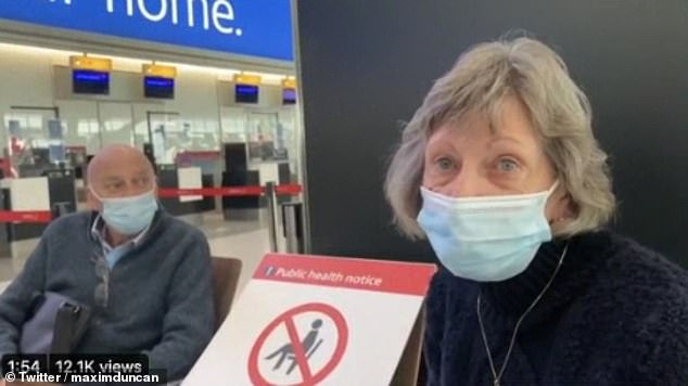 A couple said they 'were gutted' after airline staff told them they weren't allowed on the flight