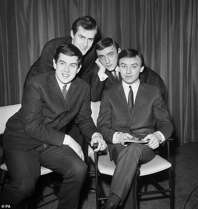 Pictured: Gerry And The Pacemakers in London in 1964.Les Maguire, Freddie Marsden, Gerry Marsden, and Les 'Chad' Chadwick are pictured