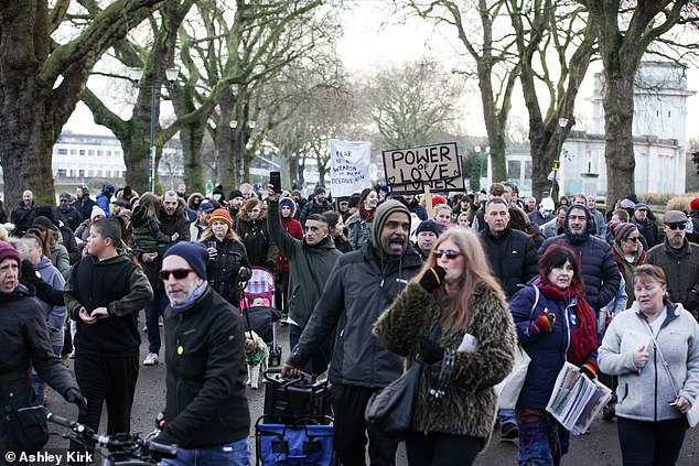 As hundreds gathered in Nottingham to protest lockdown measures, growing pressure on the NHS is expected to see patients from London and the South East moved to the Midlands to cope with demand