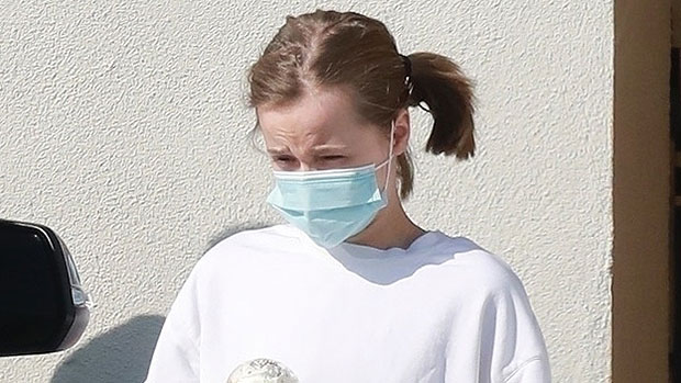 Vivienne Jolie-Pitt, 12, Steps Out In White Sweater & Black Shorts For A Solo Coffee Run — See Pics