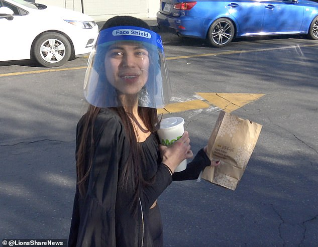 Miya Ponsetto was spotted making a food to run to McDonald's when she was stopped by a reporter