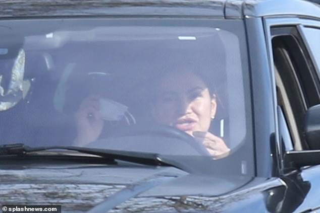 Initially, Nicole did not have a face mask on after she was instructed to pull over by police