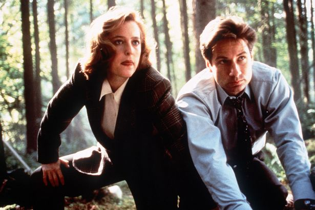 David Duchovny as Fox Mulder and Gillian Anderson as Dana Scully in X-Files
