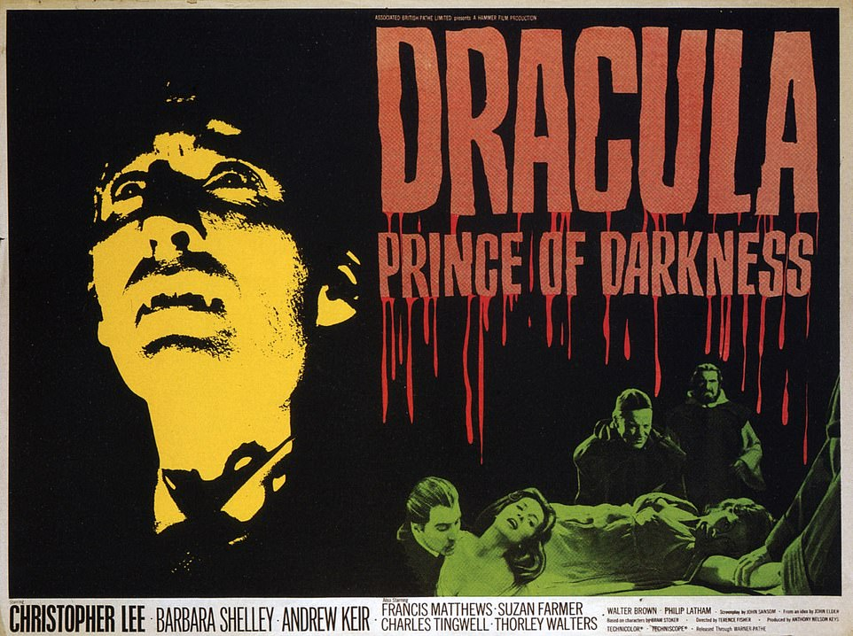Shelley shared the bill with Christopher Lee in the horror hit regarded as an all-time classic by Hammer Horror studios