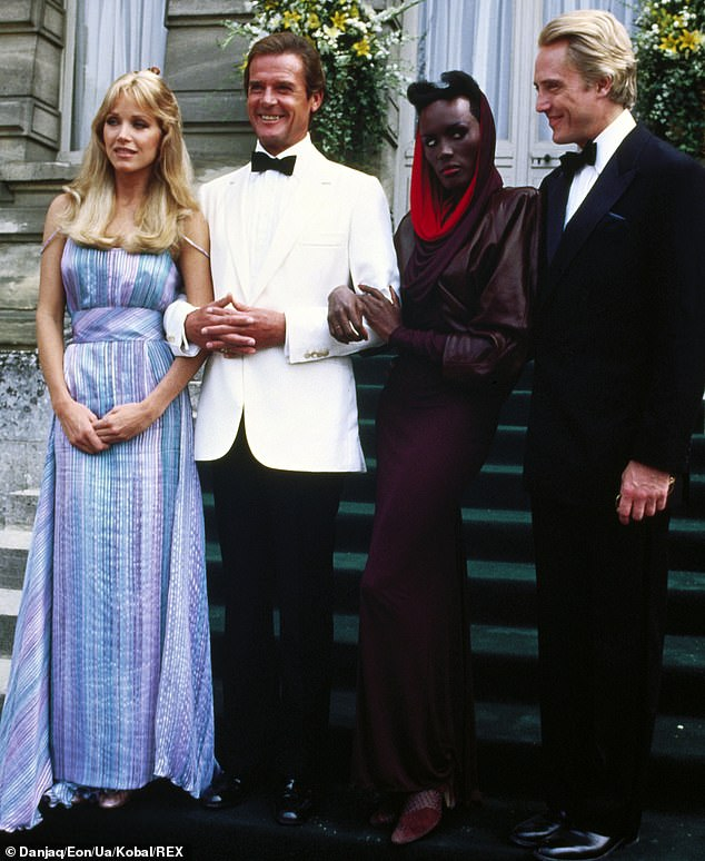 Bond girl: She played geologist Stacey Sutton alongside Roger Moore in his seventh and final James Bond movie; also seen with Grace Jones and Christopher Walken