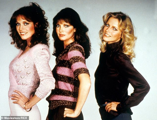 An Angel as well: She was chosen above 2,000 other actresses to replace Shelley Hack in the fifth and final season of Charlie's Angels, which aired between 1980 and 1981. She is pictured at left with Jaclyn Smith, center, and Cheryl Ladd, right