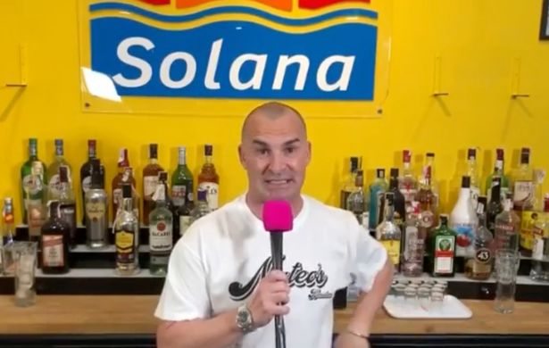 Louie recently unveiled his new gig as a barman in Spain