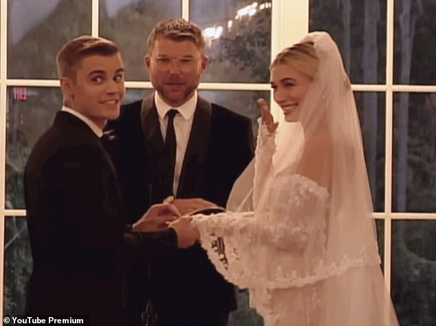 No longer on top: While Lentz was a guest at the Bieber's official church-sanctioned South Carolina nuptials the year later, Justin chose new spiritual guide, Judah Smith of Churchome to officiate (above