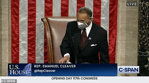 Evidence of the new rules could already be heard during the opening prayer which saw the words 'Amen and A-woman' uttered by Rep. Emanuel Cleaver