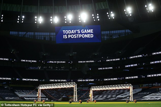 Fulham's match at Tottenham was postponed due to an outbreak of coronavirus