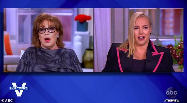 Hurt: Meghan was visibly offended by what Behar had told her