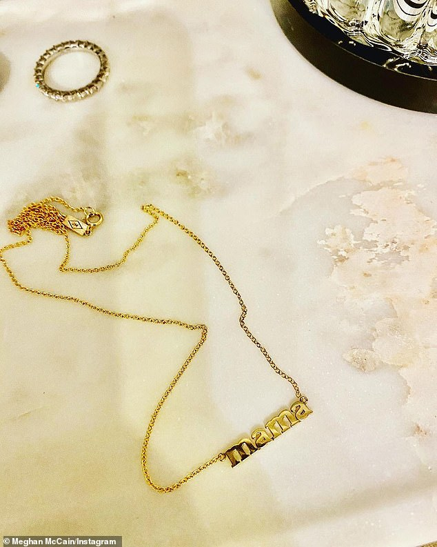 'I only wished I had done this sooner': Meghan reflected on the joys of motherhood in a heartfelt post she shared to Instagram, which included a photo of a gold 'Mama' necklace