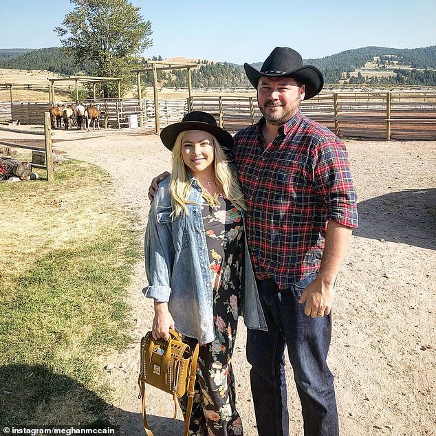 Marital bliss: The daughter of the late Senator John McCain has been married to writer Ben Domenech since 2017