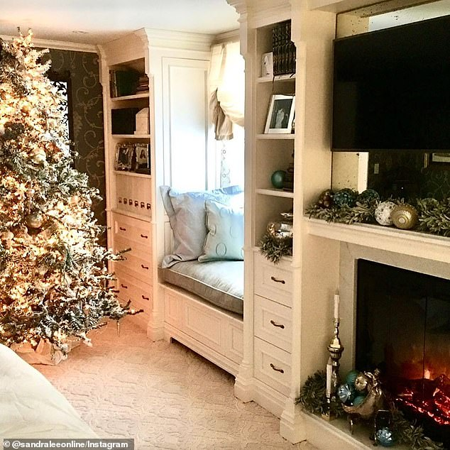 Walking down memory lane: Lee shared several snaps of her home decked out in festive holiday decorations in previous years