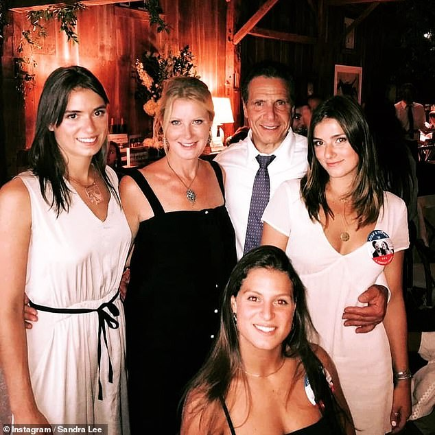 Family: Lee acted as a stepmother to Cuomo's three daughters — Michaela, Cara, and Mariah — from his previous marriage to Kerry Kennedy