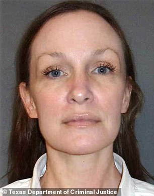 Susan Wright is pictured in an undated booking photo. Wright, 44, of Houston, was paroled Wednesday after serving more than 16 years for the 2003 murder of her husband, Jeff Wright