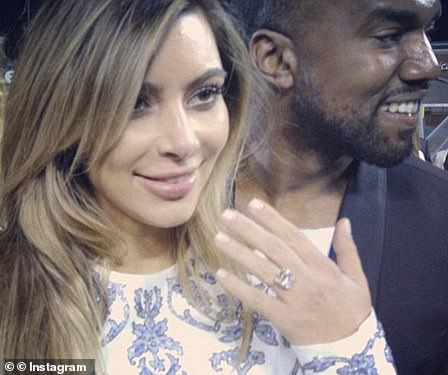 Epic proposal:In October, Kanye made proposal history when he asked Kim for her hand in marriage with a sparkling 15-carat Lorraine Schwartz diamond ring