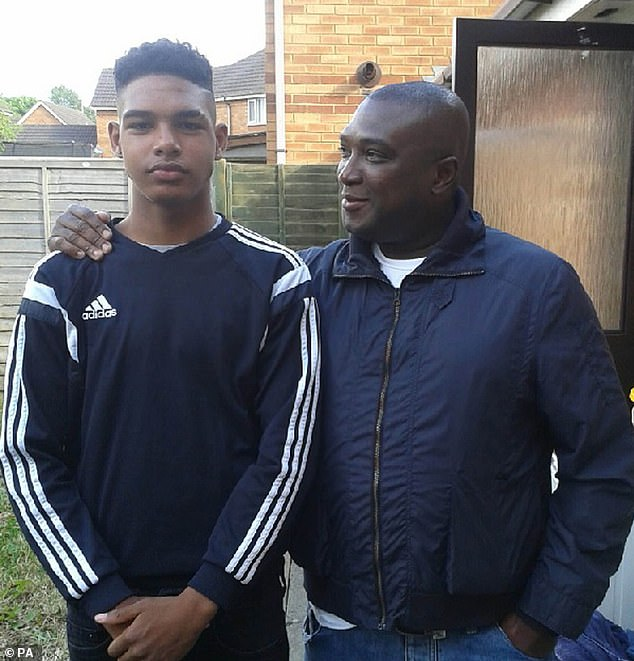 Dom Ansah, a keen football fan, pictured with his father, Earl Bevans before his death in 2019