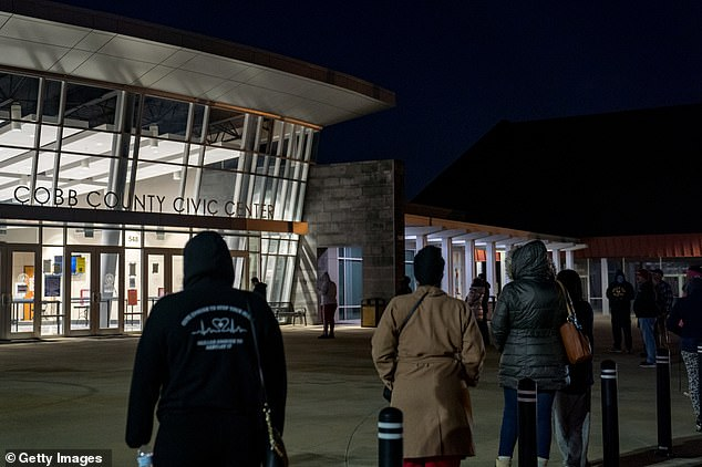 Voters started lining up at the crack of dawn to cast their ballots in the two consequential runoff races. The lines, however, are quite short, with some claiming it took them a total of 5 minutes between showing up and leaving their polling places