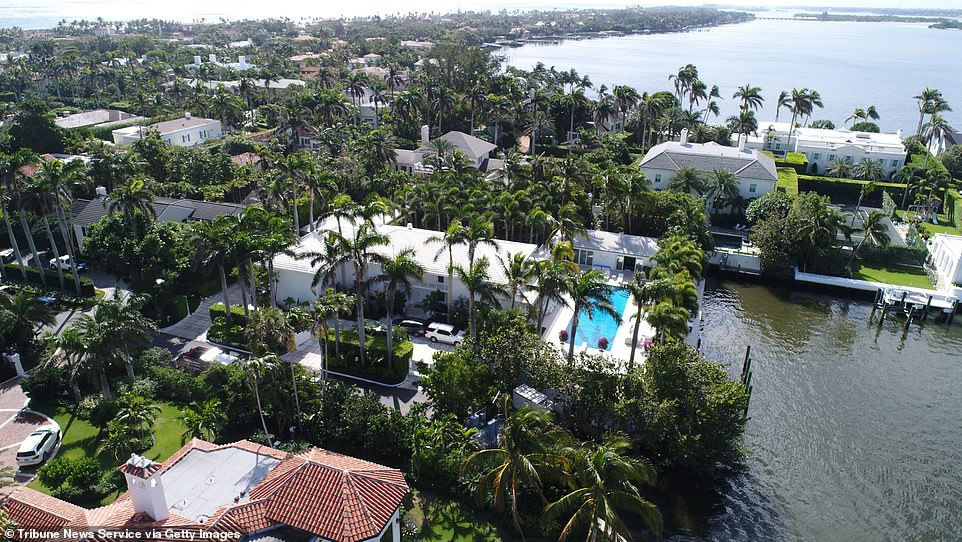 Epstein's beachfront mansion in Palm Beach, Florida, also hit the marked in July of last year for $21.995 million