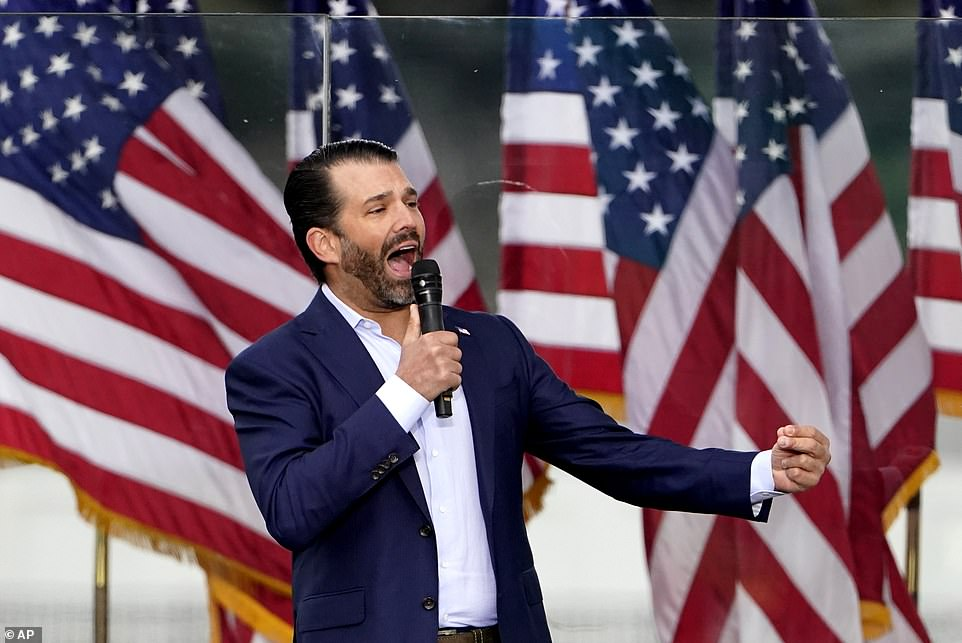 Donald Trump Jr, the president's eldest son, demanded that Republican Party lawmakers in Congress 'be the hero, not the zero' and refuse to certify President-elect Joe Biden's victory