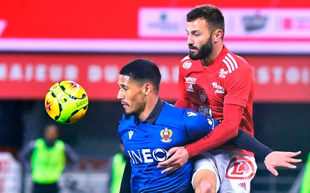 William Saliba made his Nice debut in a 2-0 defeat to Brest
